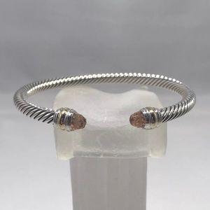 David Yurman Morganite & 14k Gold 5mm Bracelet